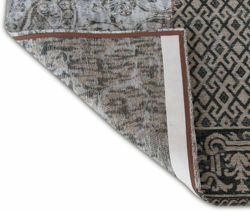 tapis Louis De Poortere LX8101 Vintage Black White corner