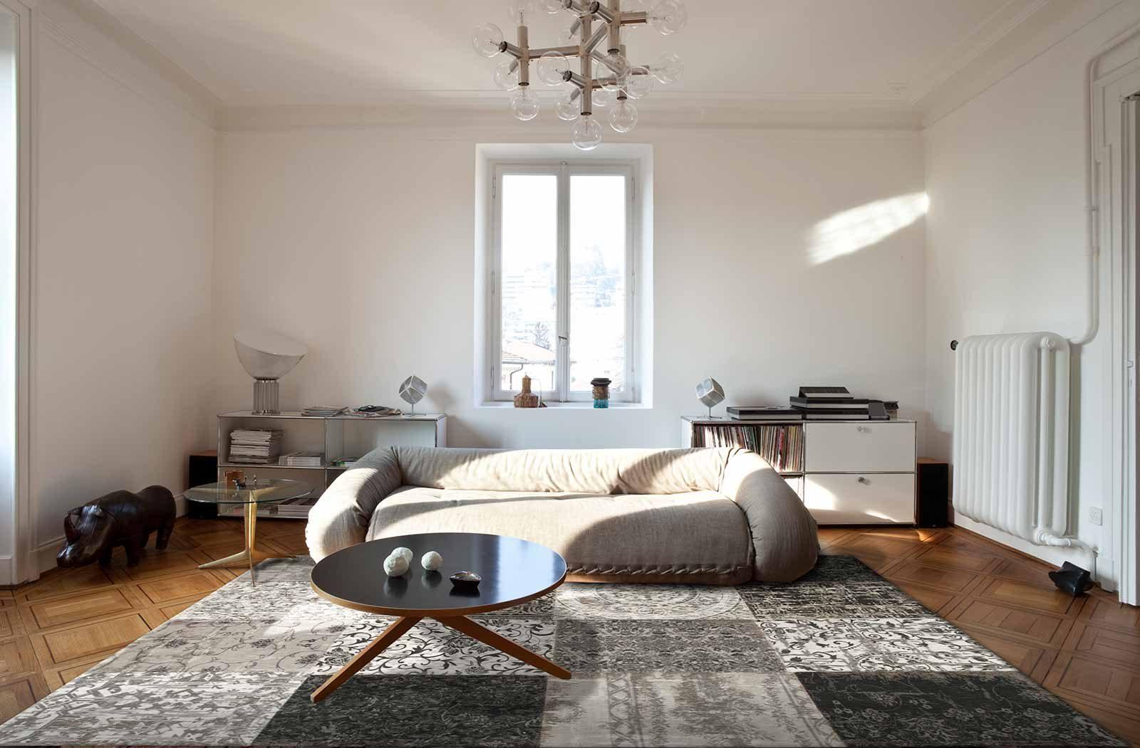tapis Louis De Poortere LX8101 Vintage Black White interior