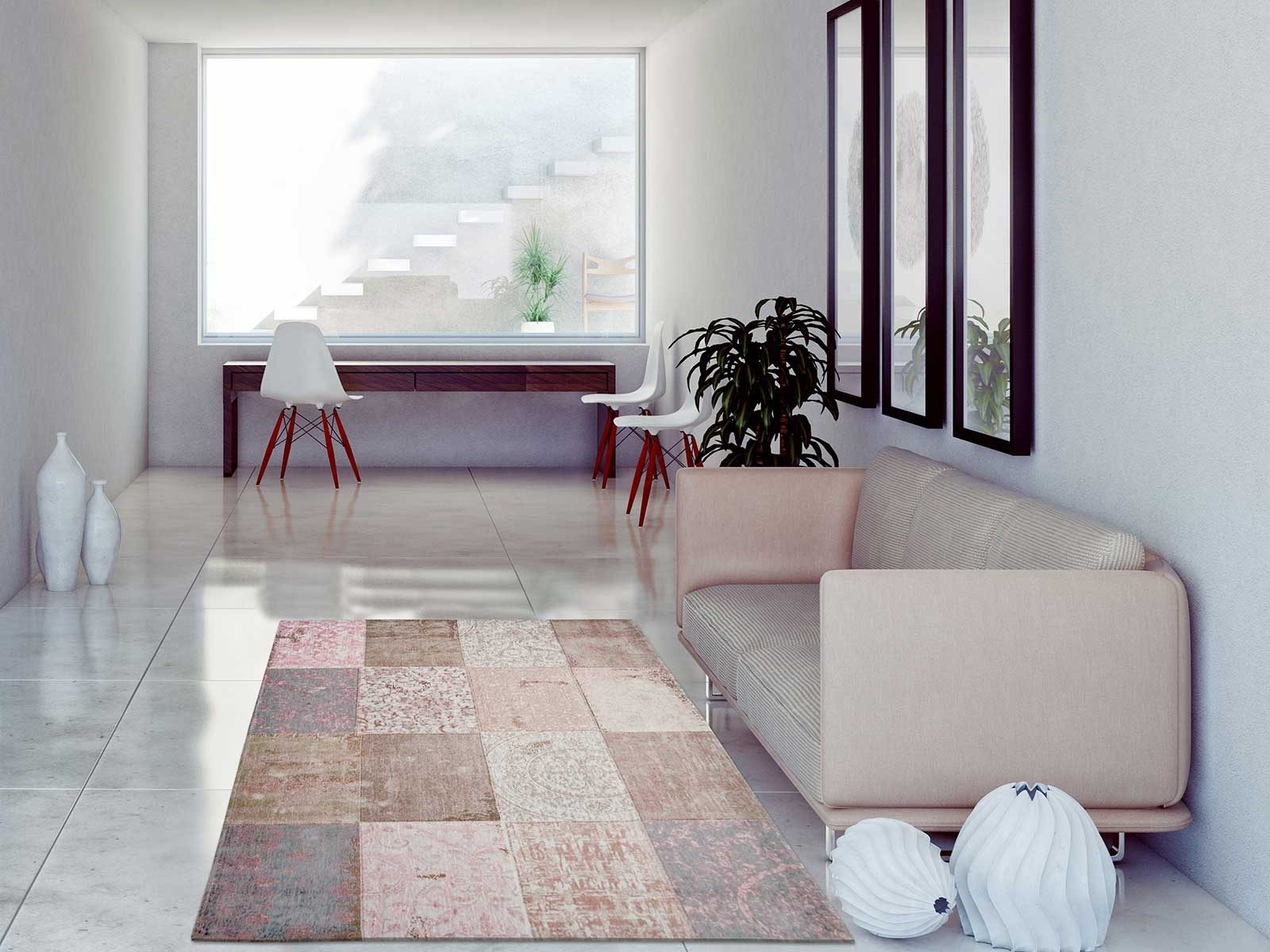 tapis Louis De Poortere LX8238 Cameo Bolshoi Pink interior