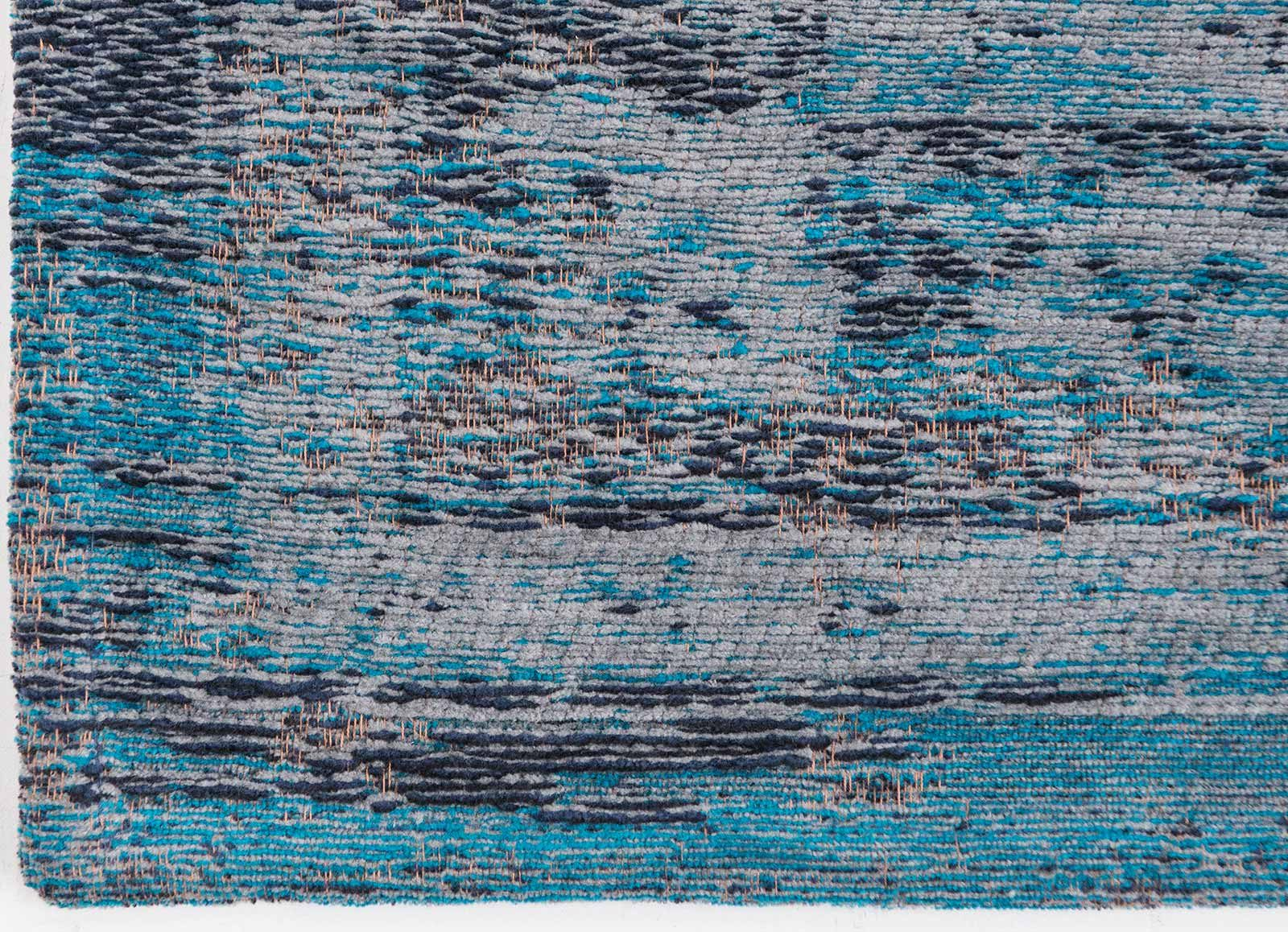 tapis Louis De Poortere LX8255 Fading World Medaillon Grey Turquoise corner