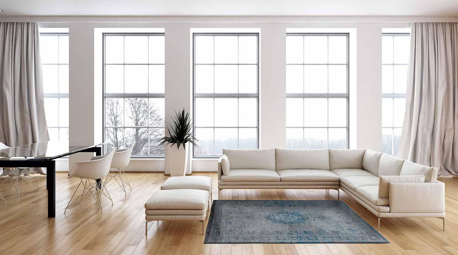 tapis Louis De Poortere LX8255 Fading World Medaillon Grey Turquoise interior