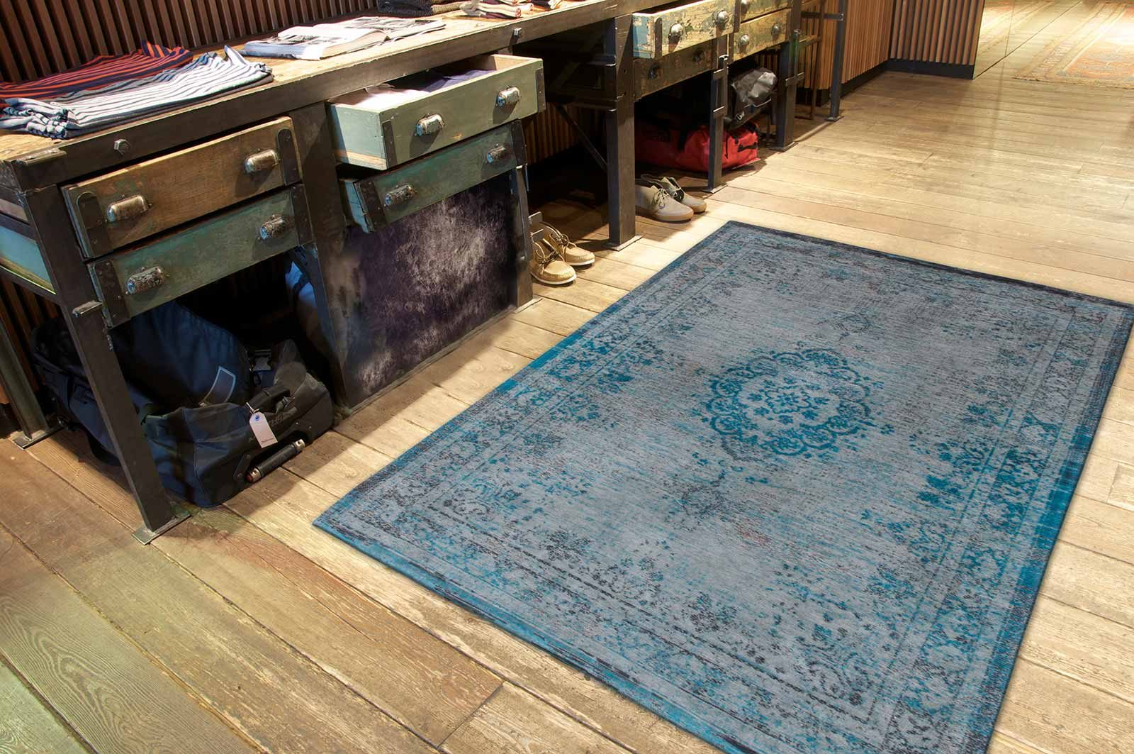 tapis Louis De Poortere LX8255 Fading World Medaillon Grey Turquoise interior 2
