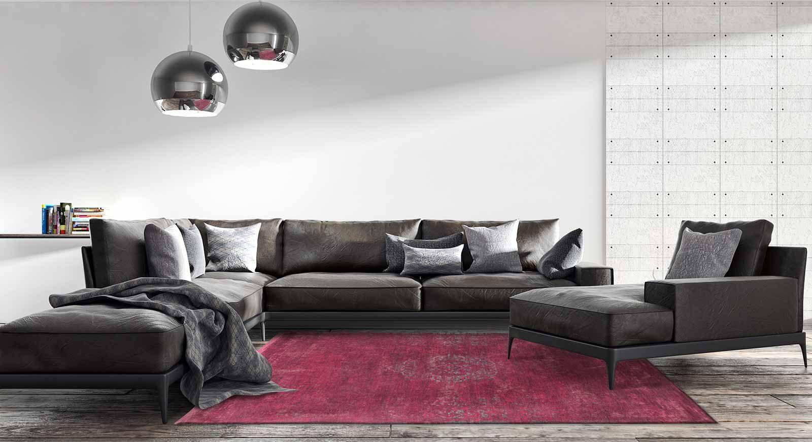 tapis Louis De Poortere LX8260 Fading World Medaillon Scarlet interior