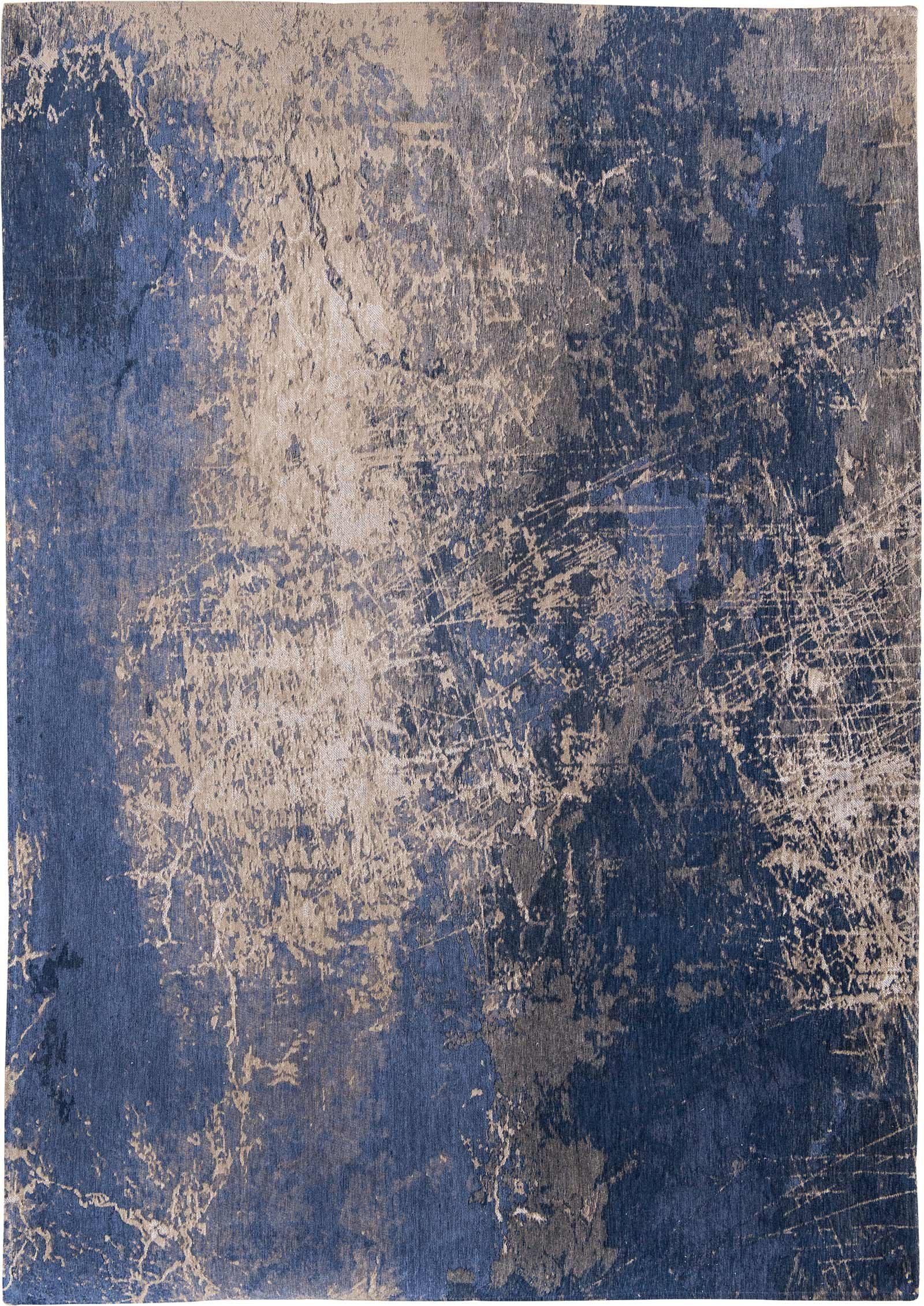 tapis Louis De Poortere LX8629 Mad Men Cracks Abyss Blue