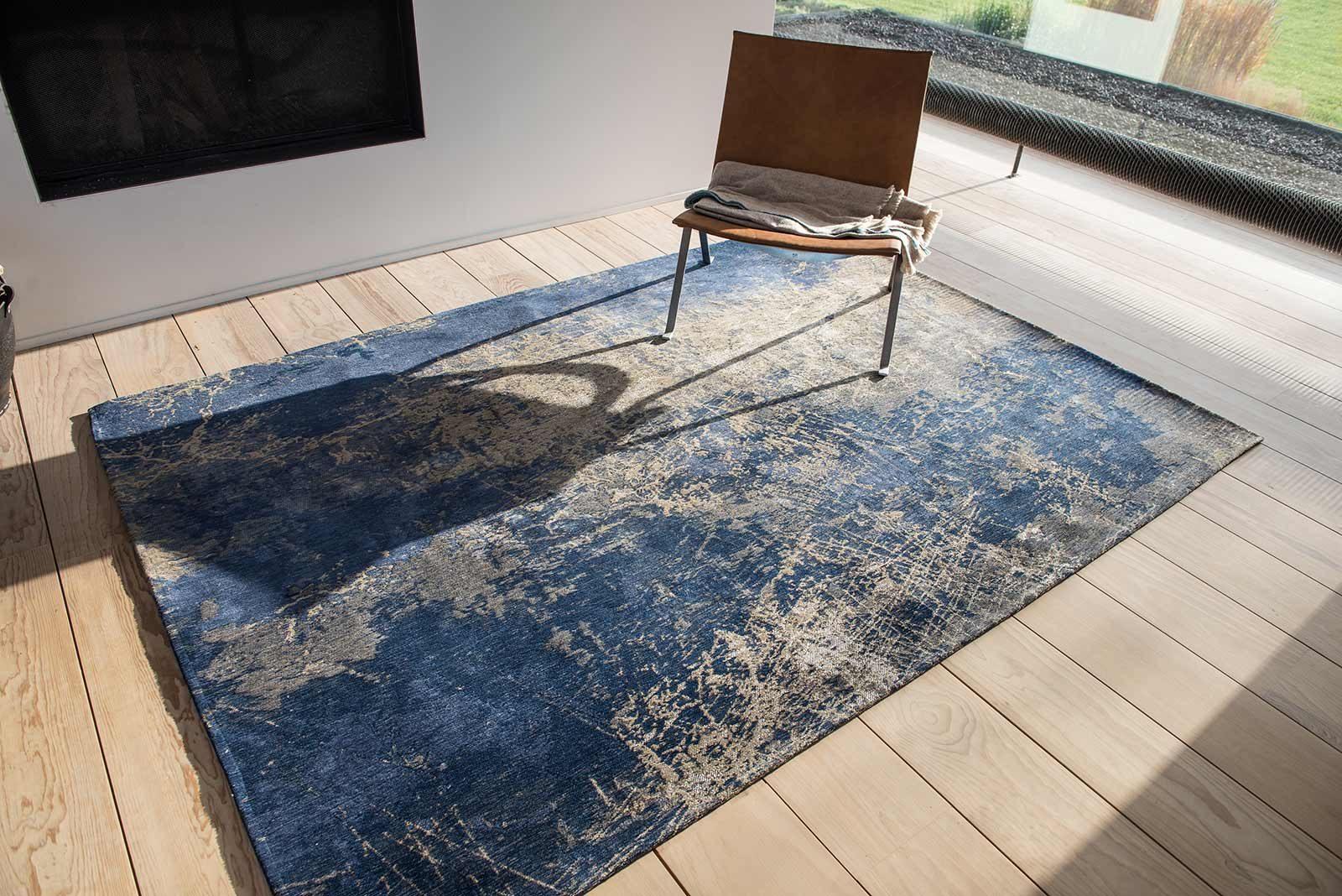 tapis Louis De Poortere LX8629 Mad Men Cracks Abyss Blue interior 2