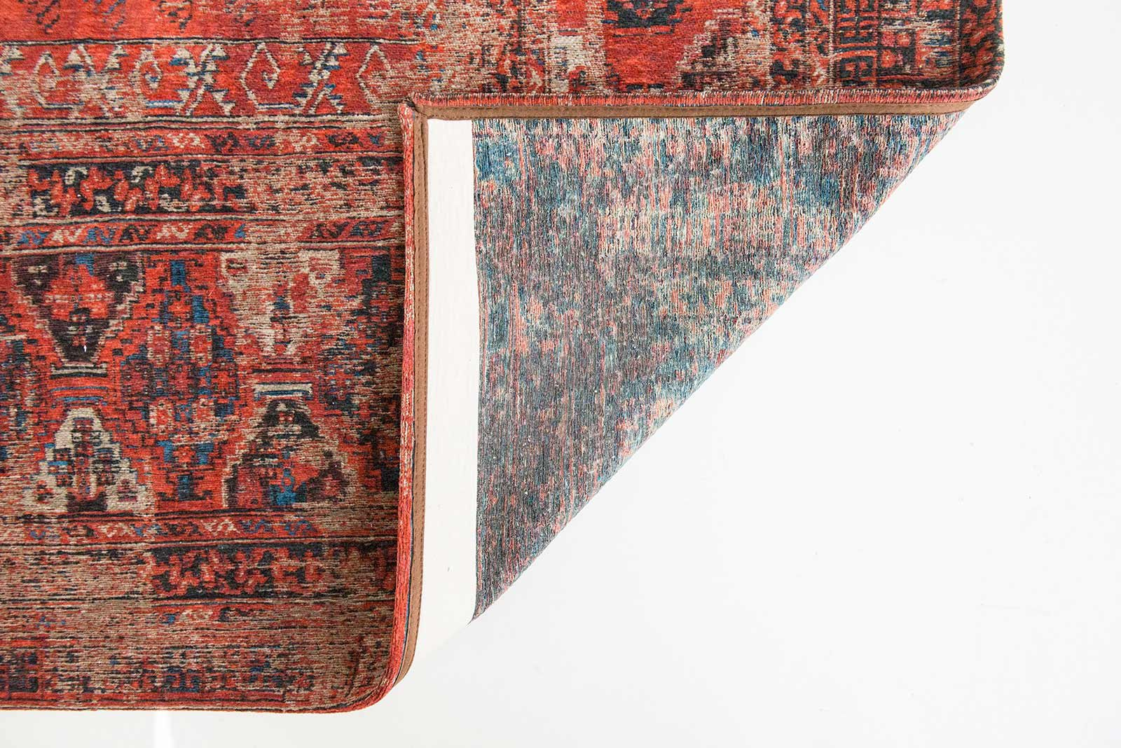 tapis Louis De Poortere LX8719 Antiquarian Antique Hadschlu 782 Red back