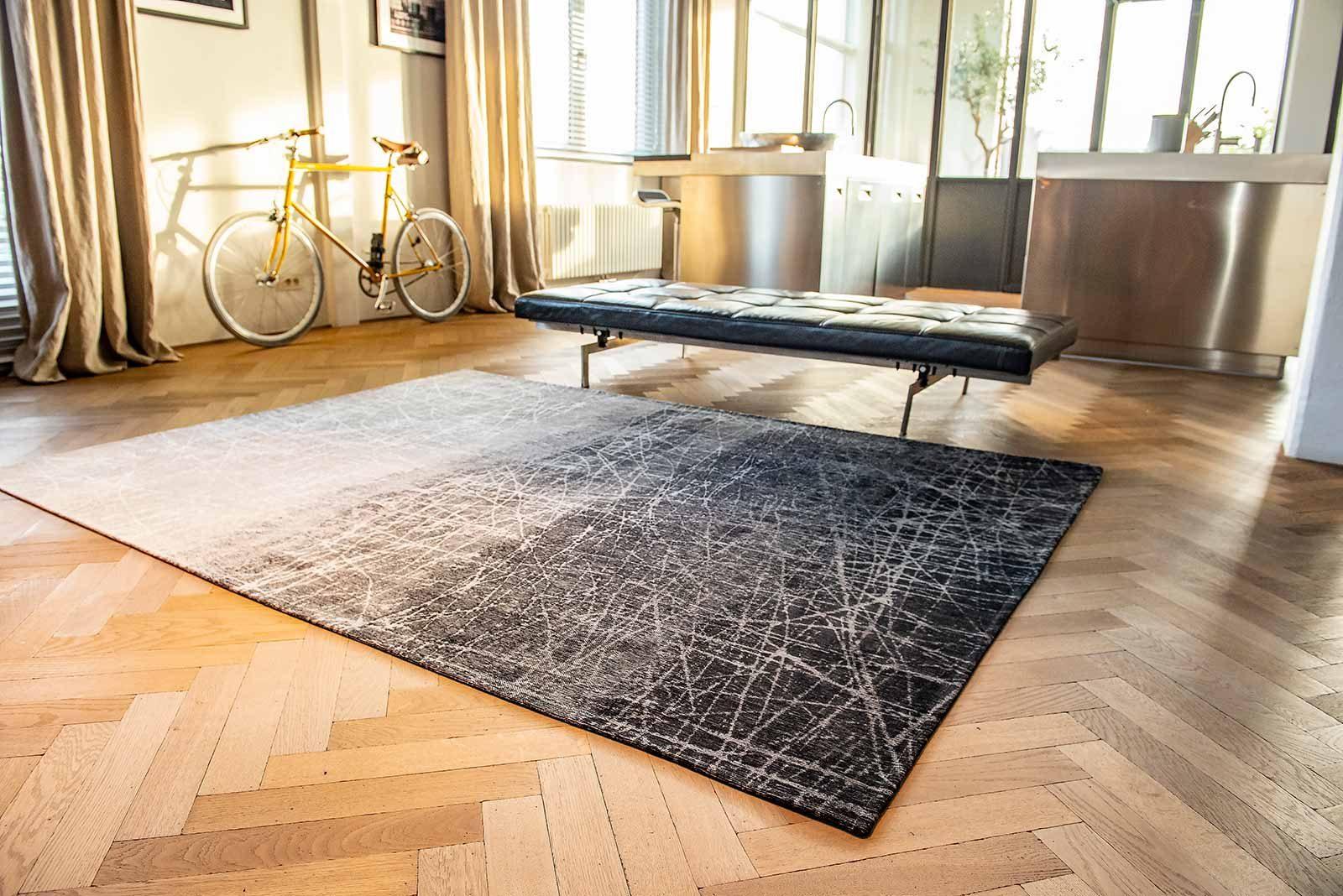 tapis Louis De Poortere LX 8881 Mad Men Fahrenheit Wind Chill Grey interior