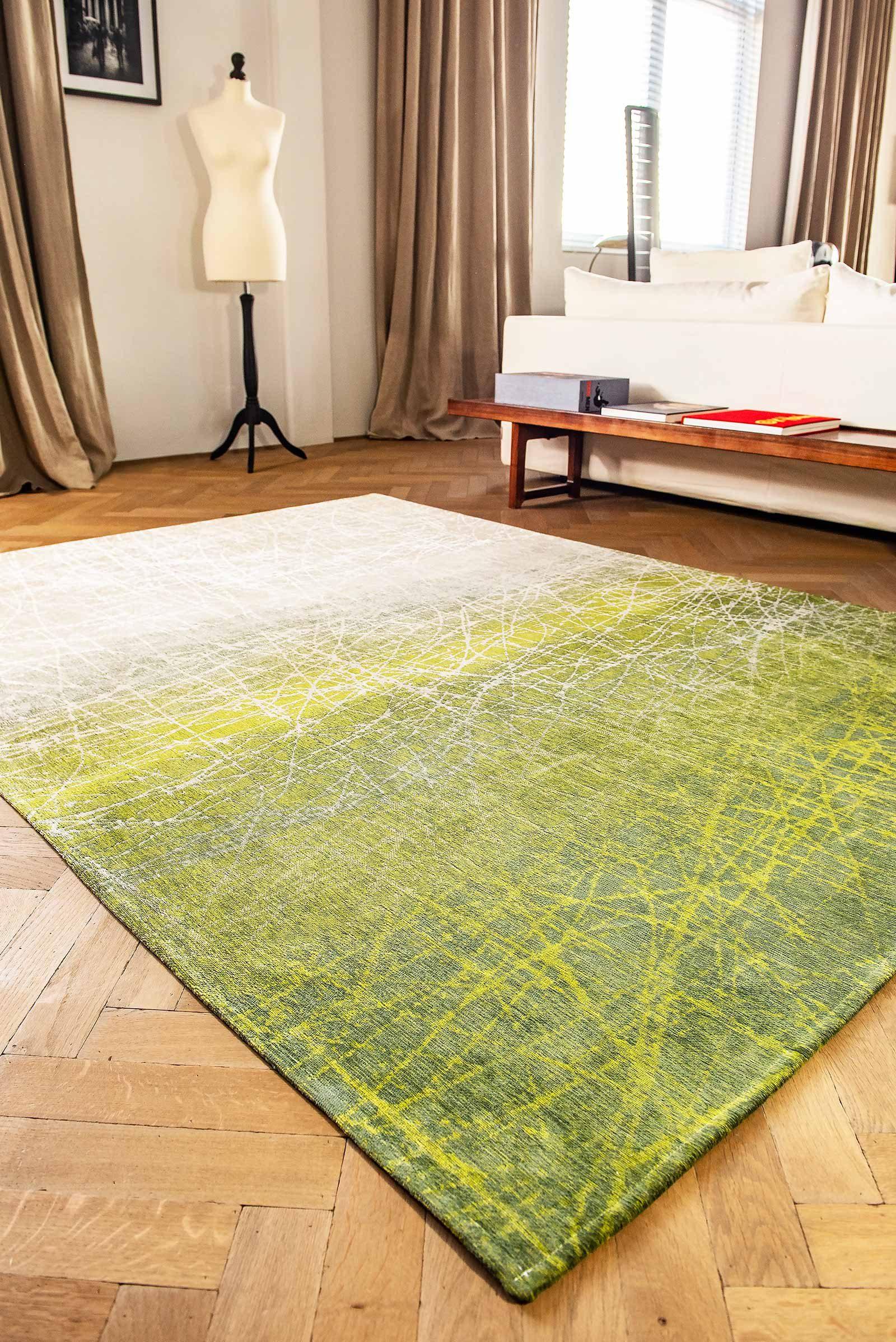 tapis Louis De Poortere LX 8882 Mad Men Fahrenheit Central Park Green interior